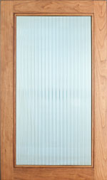 Reeded Glass door w/bead edge