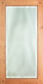 Beveled Mirror Door with Pegs