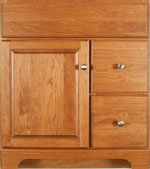 Ashford Collection with Prestige Door style in Cherry-Golden Wood-Color. Standard Ashford Decorative Hardware shown.