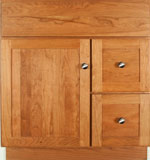 Springhill Collection with Shaker Door style in Cherry-Golden Wood-Color. Standard Springhill Decorative Hardware shown.