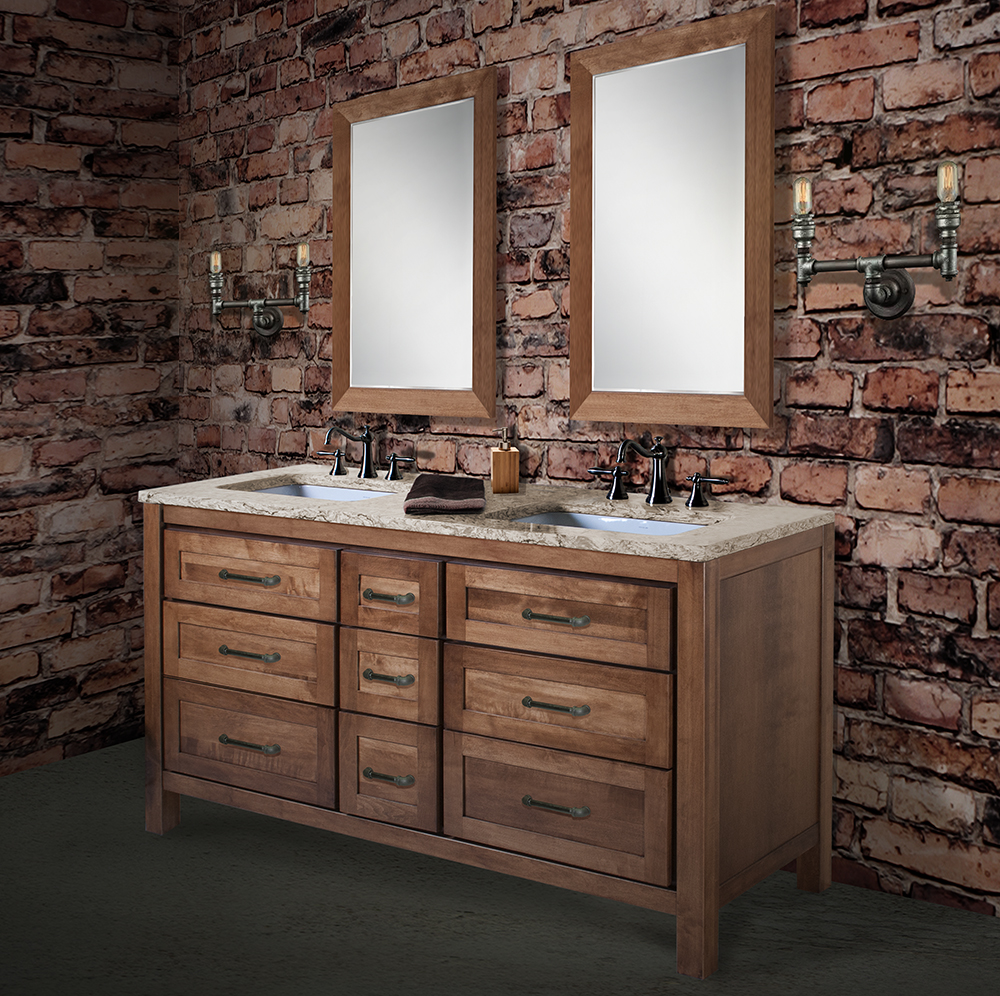 "Parkway 60"" Two-Bowl Table Vanity"