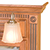 Traditional Crown Style Fluted with Top Rosette Side Molding Dentil Top Molding Beveled Mirror Type